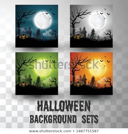 Illustration of different Halloween gravestones  Stock photo © DeCe