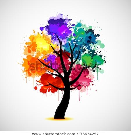 Rainbow and Tree Silhouettes Stock photo © suerob