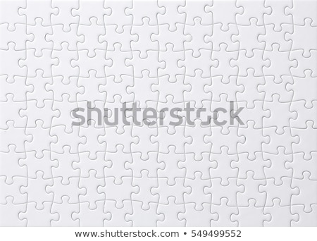 White puzzle pieces stock photo © Oakozhan