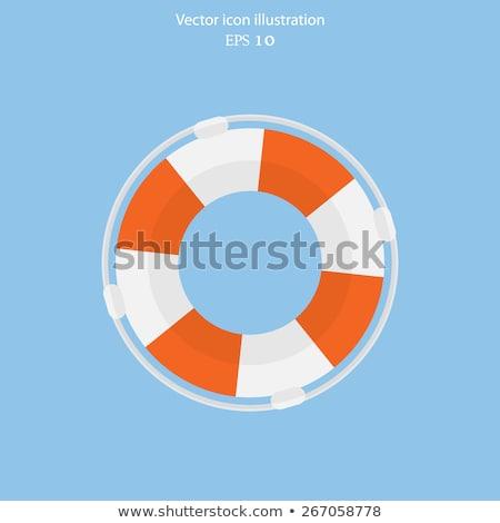 rojo · salvavidas · blanco · mar · buque · vida - foto stock © beholdereye