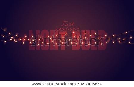 lámpa · villanykörte · minta · végtelen · minta · kreatív · siker - stock fotó © voysla