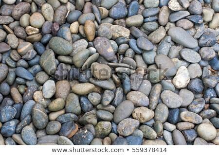 background view of black river rocks stock photo © ozgur