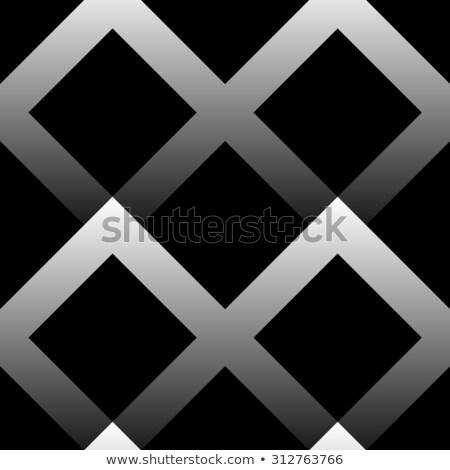 Vector Seamless Greyscale Gradient Squares Lattice Geometric Pattern Stock photo © Samolevsky
