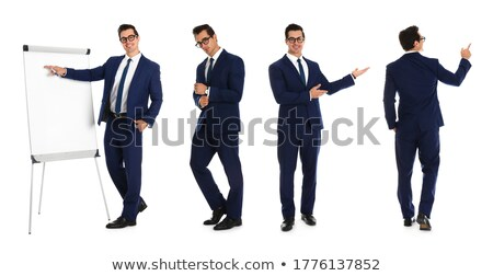 Full length photo of trainer Stock photo © deandrobot