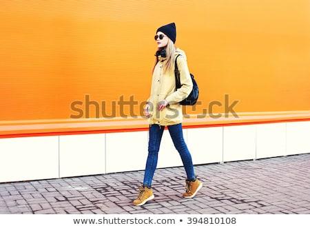 aantrekkelijk · blond · vrouw · mooie · blonde · vrouw · gebouw - stockfoto © iordani