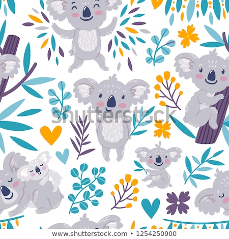 Stock photo: Koala Bear And Cub