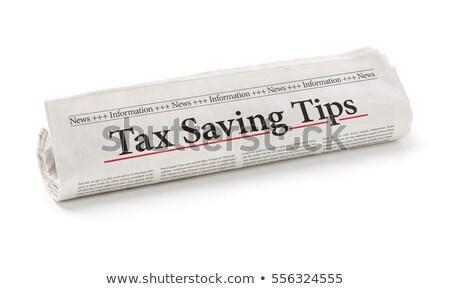 tekert · újság · főcím · törvényhozás · iroda · papír - stock fotó © zerbor