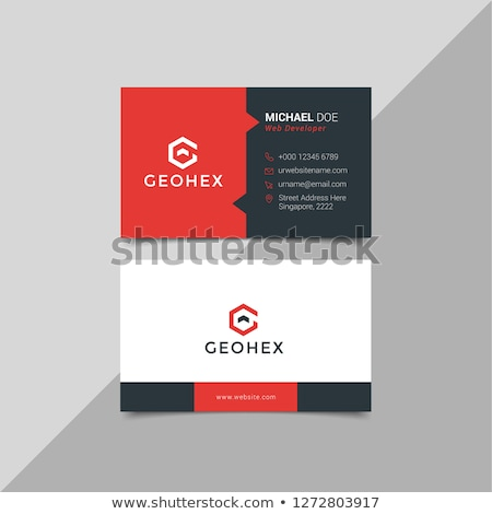 red and black business card template layout in abstract style Stock photo © SArts