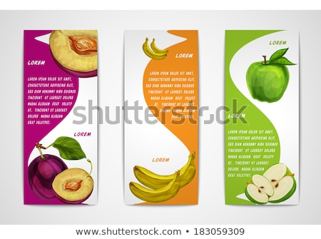 set of green bookmarks for organic food stock photo © orson