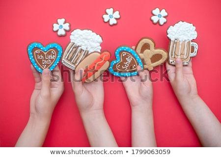 Gingerbread heart Stock photo © cundm
