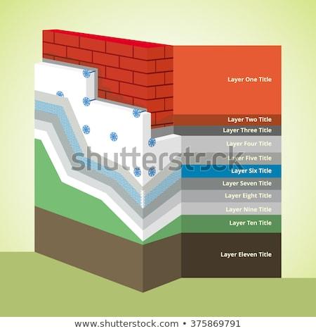 polystyrene thermal insulation cross section layered infographics stock photo © creativika