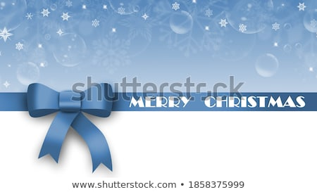 3d Illustration of blue gift bow and label with place for text Stock photo © tussik