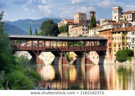 ponte degli alpini bridge bassano del grappa italy stock photo © xantana
