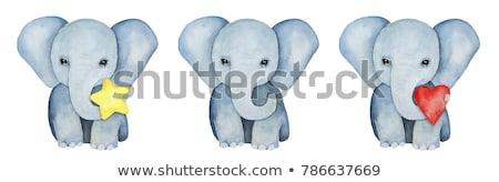 слон воды парка ЮАР фон путешествия Сток-фото © simoneeman