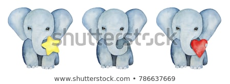 Starring Elephant in the water. Stock photo © simoneeman
