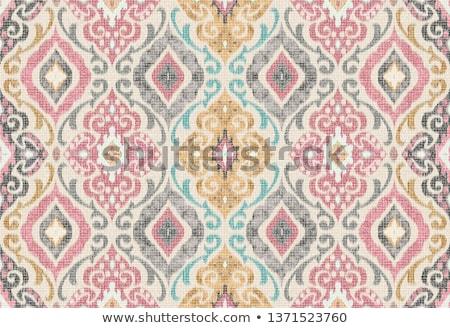 resumen · vintage · sin · costura · damasco · patrón · vector - foto stock © fresh_5265954