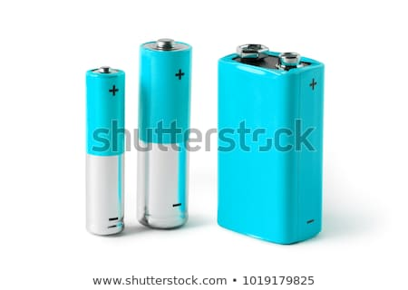 various batteries isolated on white stock photo © ordogz