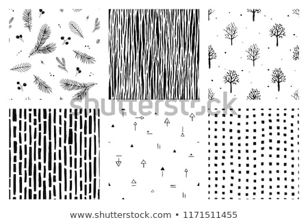 Collection of hand drawn christmas seamless patterns - swatches. Stock photo © ExpressVectors