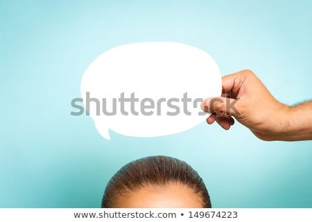Think big chat message sign concept Stock photo © alexmillos