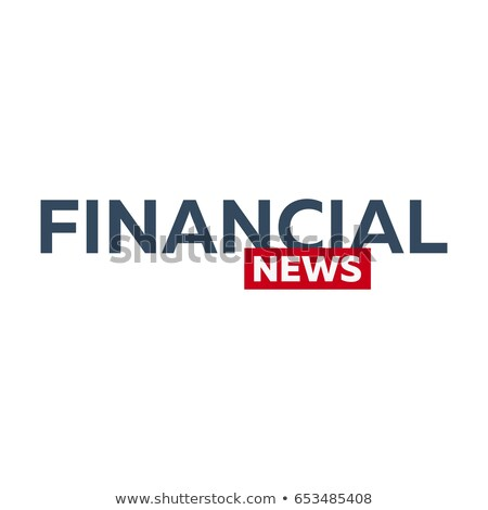Stock photo: Mass media. Financial news logo for Television studio. TV show.