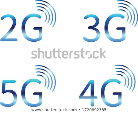3g 4g иконки синий серый Сток-фото © Oakozhan
