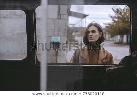 sensueel · meisje · achter · glas · vrouw - stockfoto © julenochek