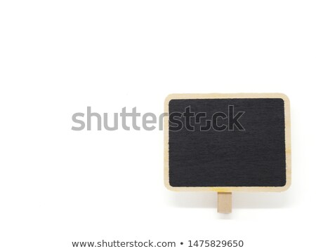 Little chalkboard on wooden background Stock photo © BarbaraNeveu