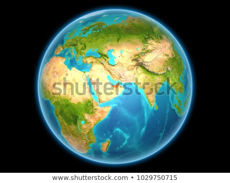 Verenigde Arabische Emiraten Rood vol aarde 3d illustration Stockfoto © Harlekino