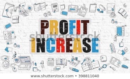 Multicolor Profit Increase on White Brickwall. Doodle Style. Stock photo © tashatuvango