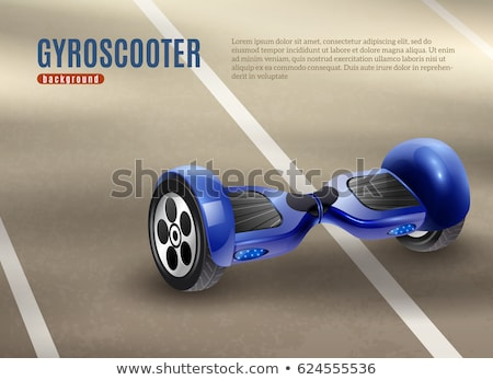 Blue gyro scooter Stock photo © magraphics