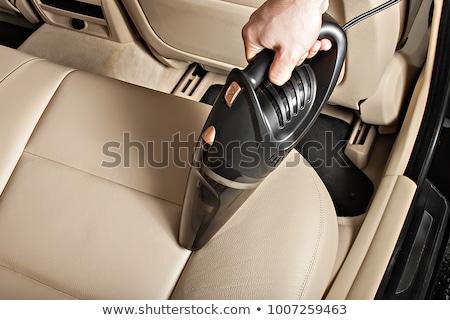 Odkurzacz samochodu siedziba technologii czerwony Zdjęcia stock © AndreyPopov