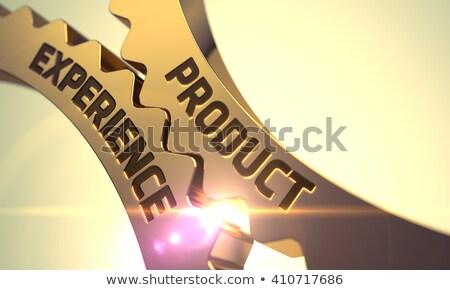 Product Experience Concept. Golden Gears. 3D Illustration. Stock photo © tashatuvango