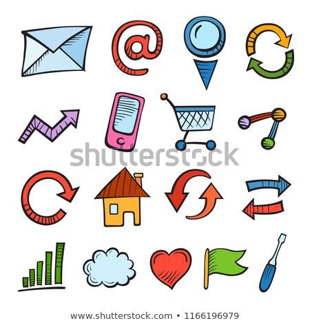Internet di trading doodle design buio Foto d'archivio © tashatuvango