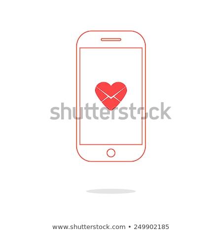 любви письме женщины стороны мобильного телефона Сток-фото © Genestro