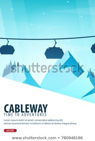 Téli sport hegy tájkép snowbordos mozgás égbolt Stock fotó © Leo_Edition