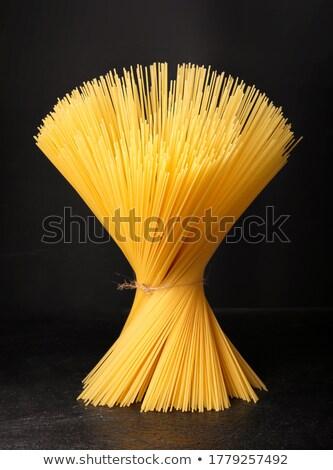 Foto d'archivio: Pasta · piedi · fila · greggio · nero · concrete