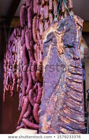 séché · jambon · photo · coup · alimentaire · viande - photo stock © milsiart