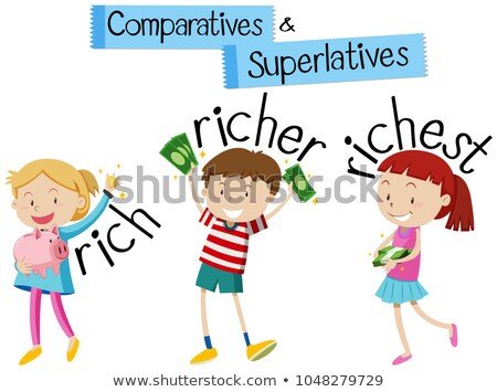 English grammar for comparatives and superlatives with kids and  Stock photo © bluering
