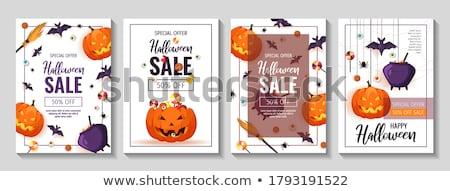 Akció poszter vásár címke különböző áru Stock fotó © studioworkstock
