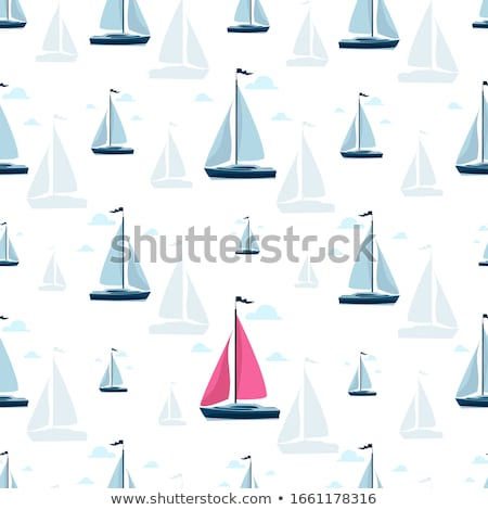 World yachting posters with luxury sailboats Stock photo © studioworkstock