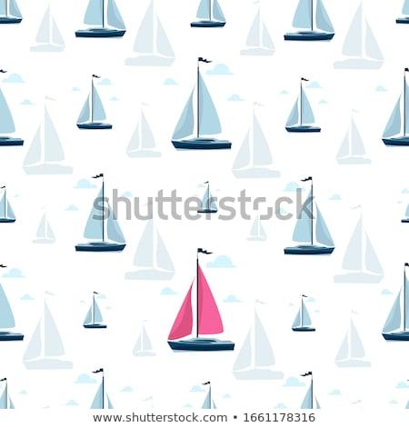 Wereld posters luxe zeilboten poster Stockfoto © studioworkstock