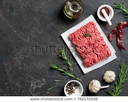 Et malzemeler ızgara pişirme Stok fotoğraf © karandaev