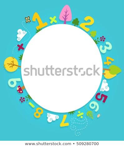 renkli · dekore · edilmiş · sayılar · aritmetik · işaretleri · semboller - stok fotoğraf © lenm