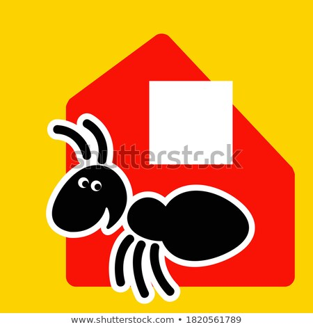 Ant courier makes delivery of cardboard box Stock photo © orensila