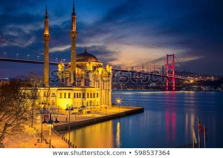 мечети рассвета моста Стамбуле Восход Турция Сток-фото © Givaga