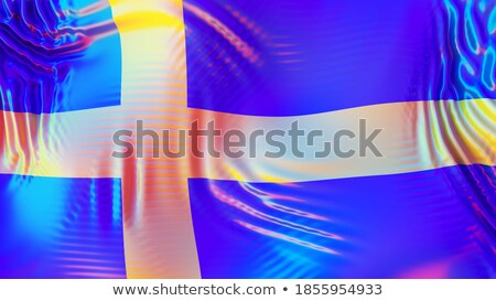 Sweden LGBT flag. Swedish Symbol of tolerant. Gay sign rainbow Stock photo © popaukropa