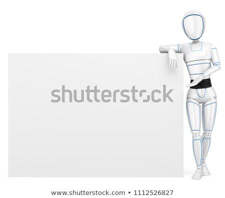andróide · robô · conselho · cópia · espaço · branco - foto stock © texelart