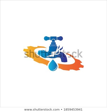 dripping faucet and metal gear Stock photo © djdarkflower