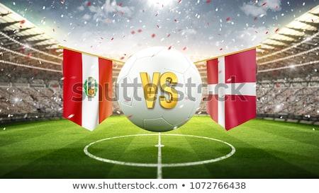 Futbol maç Peru vs Danimarka futbol Stok fotoğraf © Zerbor