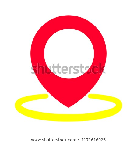 Map pin flat design style modern icon, pointer minimal vector symbol, marker sign. Vector illustrati Stock photo © kyryloff